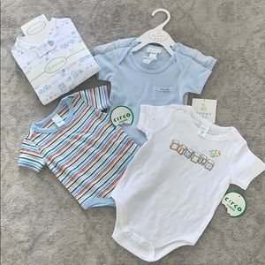 Set of baby PJ's and One Piece Tee Shirts